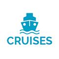 Blue cruise boat icon
