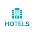Blue hotel icon